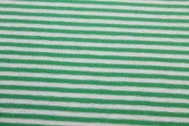 Jersey dünne weiße und grüne Streifen 100110/66