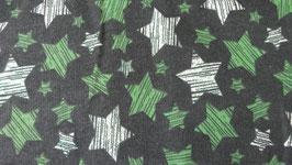 Sweat dunkelgrün mit Glitzersternchen