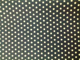 Baumwolle dunkelblau kleine Sterne 0,4 cm 300357