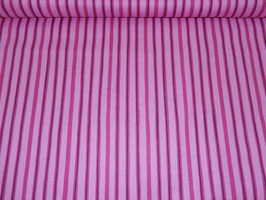 Baumwolle lila/rosa Streifen