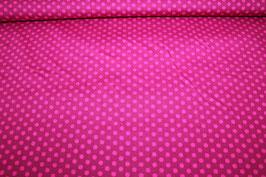 Baumwolle pink mit rosa Punkten