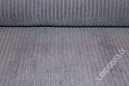 Polsterstoff uni Streifenoptik grau 101280