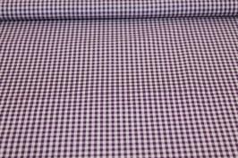Baumwolle lila/weißes Karo 502510/44B