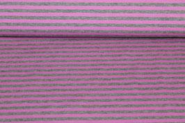 Jersey dünne rosane und graue Streifen 100143/80
