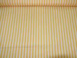 Baumwolle gelbe und weiße Streifen