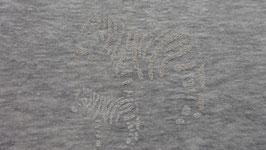 Sweat grau  mit weißen Glitzerzebras