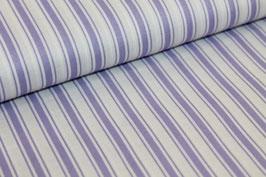 Baumwolle lila/weiße dicke und dünne Streifen