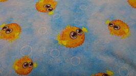 Jerse himmelblau mit Kugelfisch gelb