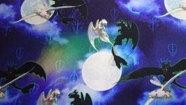 Baumwolle  Dragon blau