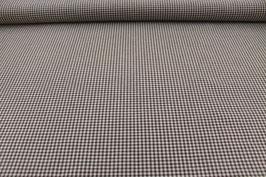 Baumwolle braun/weißes Karo 502510/72