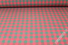 Dekostoff grün / rot Karo   1,5 x 1,5 cm    2,80 m breit