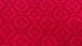 Feinkord rot / bordo Muster