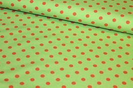Jersey grün mit orangenen Punkten 200164/28