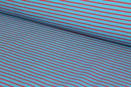 Jersey dünne blaue und rote Streifen 100159/32