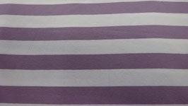Jersey lila / weiß breit gestreift 100110/46