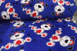 Fleece blau mit Hunden 601755