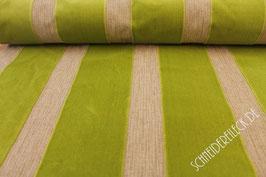Polsterstoff beige/grün gestreift 101213/64