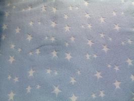Bündchen hellblau/ weiße Sternchen