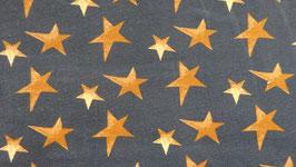 Sweat petrol mit goldbraunen  Sternen