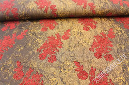 Polsterstoff rot / braun gemustert 401232/98