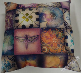 Patchwork digitaldruck Kissen
