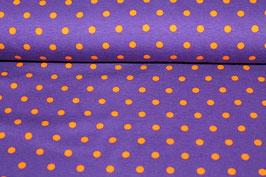 Jersey lila mit orangenen Punkten  200145/28