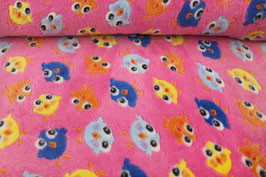 Fleece pink+bunte Küken 601742