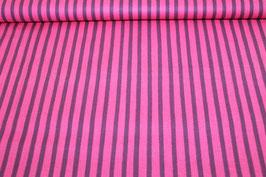 Baumwolle lila/pinke Streifen