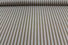 Baumwolle braun/weiße dicke und dünne Streifen