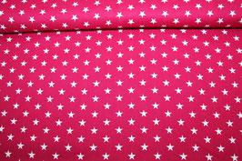 Baumwolle pink kleine weiße Sterne