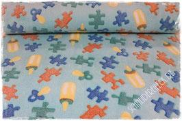 Fleece Baby blau 401753