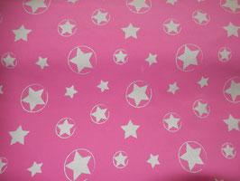 Softshell pink mit reflektierenden Sternen