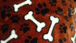 Polarfleece Hundepfoten und Knöchen  dunkelbraun
