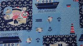 Jersey mit maritimen Kindermotiven