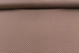 Baumwolle braun mit kleinen weißen Punkten