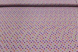 Baumwolle rosa mit kleinen bunten Punkten