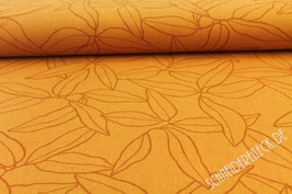 Polsterstoff Blumen orange 701228