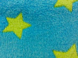Polarfleece blau mit grünen Sternen 301758/64