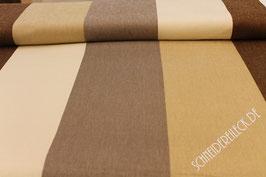 Polsterstoff beige/braun breit gestreift 101270/73