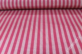 Dekostoff  Streifen  1,3 cm breit   Baccara  2,80 m breit