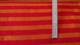 Sweat orange mit pinken Streifen
