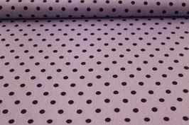 Baumwolle helllila mit großen lila Punkten