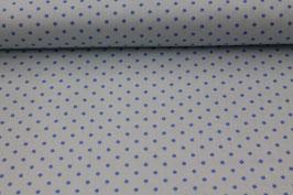Baumwolle hellblau mit kleinen blauen Punkten