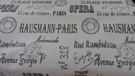 Dekostoff  Schrift Hausmann - Paris