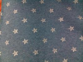 Bündchen jeansblau mit Glitzersternen 300450/96