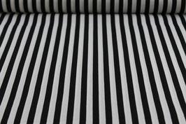 Baumwolle schwarz/weiße Streifen