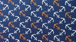 Jersey blau mit weißen und orange Anker