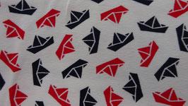 Jersey weiß mit roten und blauen Schiffchen