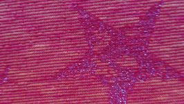 Sweat orange- rot mit Glitzer- Sternen
