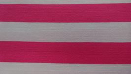 Jersey  pink / weiß breit gestreift 100110/45